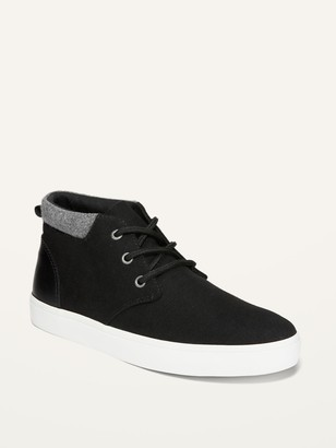 Old Navy Mixed-Fabric Mid-Top Sneakers for Boys