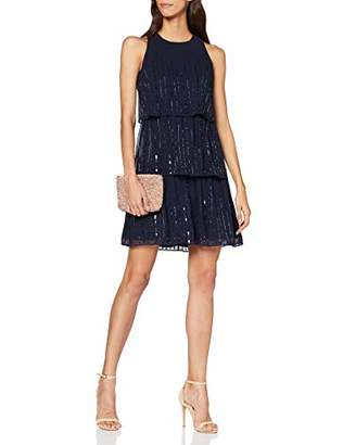 Dorothy Perkins Women's Joanie Sequin Tiered Trapeze Dress. Party,(Size:)