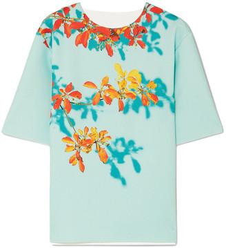 Dries Van Noten Conga Floral-print Stretch-scuba T-shirt