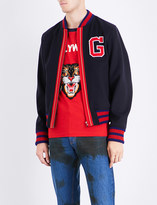 Gucci G patch wool bomber jacket