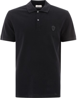 Alexander McQueen Skull Embroidered Polo Shirt