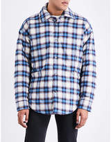 Balenciaga Check-pattern Cotton Peacoat Overshirt