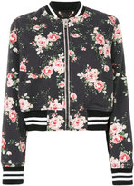 Diesel floral-print bomber jacket - women - Cotton - XS