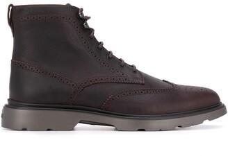 Hogan Lace-Up Ankle Boots