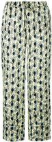 Marni leaf print trousers - women - Silk - 40