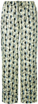 Marni leaf print trousers - women - Silk - 46