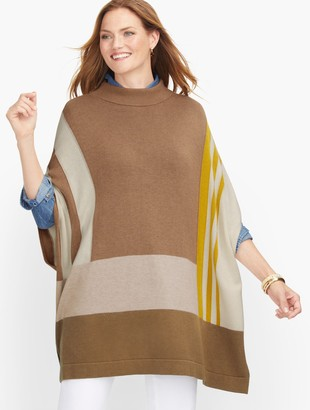 Talbots Colorblock Poncho
