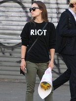 Sub Urban Riot Suburban Riot Riot Sweatshirt in Black as seen on Olivia Wilde