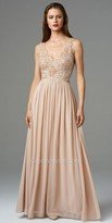 Aidan Mattox Beaded Bodice Mesh Evening Dresses
