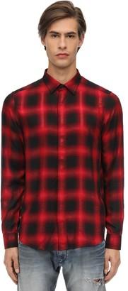 Diesel Viscose Blend Flannel Shirt W/ Lurex