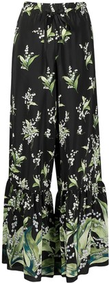 RED Valentino May Lily printed flared trousers