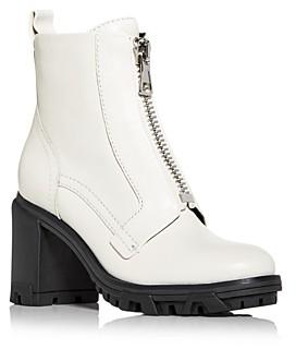 Rag & Bone Women's Shiloh Zip High Block Heel Combat Boots