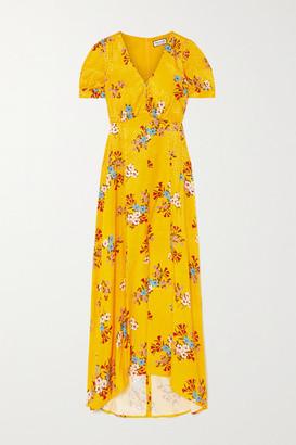 Paul & Joe Floral-print Satin-jacquard Maxi Dress - Saffron
