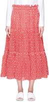 Lisa Marie Fernandez 'Peasant' daisy broderie anglaise midi skirt