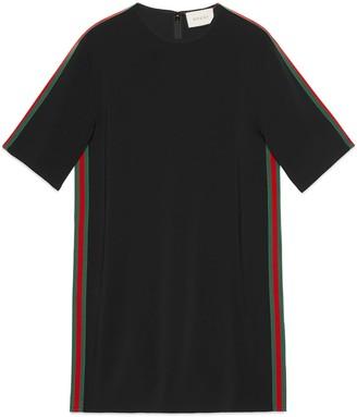 Gucci Stretch viscose tunic dress with Web
