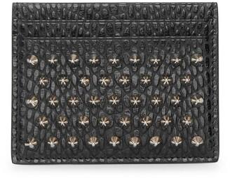 Christian Louboutin Kios black leather card holder