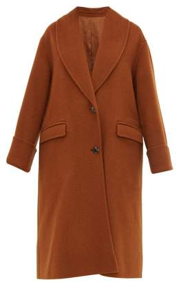 Joseph Kara Double Faced Wool Blend Coat - Womens - Brown