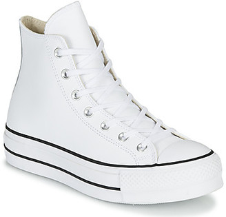 Converse CHUCK TAYLOR ALL STAR LIFT CLEAN LEATHER HI women's Shoes (High-top Trainers) in White
