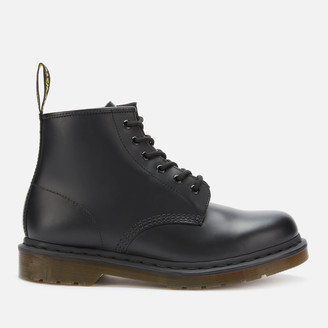 Dr. Martens 101 Smooth Leather 6-Eye Boots - Black