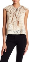 Tov Ruffle Front Lace Tank