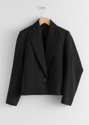 And other stories Pointed Lapel Single Button Blazer