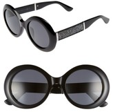 Jimmy Choo Women's Wendy 51Mm Round Sunglasses - Black/ Glitter/ Black