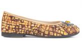 Dolce & Gabbana Byzantine print flats with stones