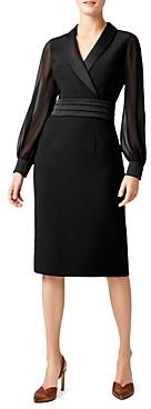 Hobbs London Fridah Tuxedo Sheath Dress