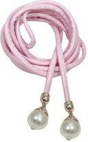Deercon Women Skinny Waist Strap Belt PU Leather Waistband Waist Chain