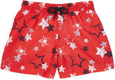 Sunuva Star-Print Swim Trunks-RED