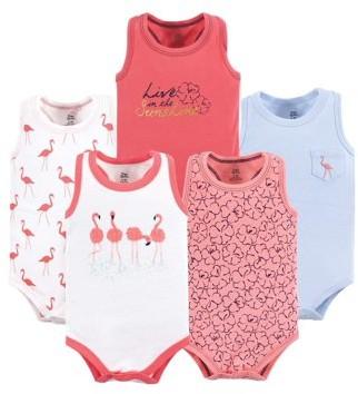 Yoga Sprout Racerback Bodysuits, 5pk (Baby Girls)