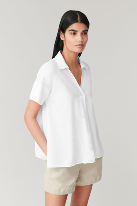 Cos Short-Sleeved Top With Pleat