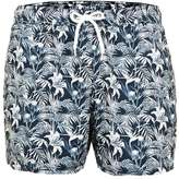 Topman Blue Tropical Print Swim Shorts