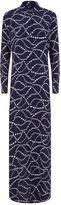 Equipment Brett Star Print Maxi Shirt Dress