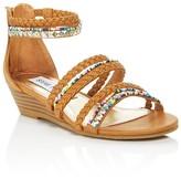Steve Madden Girls' Strappy Wedge Sandals