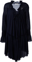 See by Chloe ruffled smock dress - women - Cotton/Polyester - M