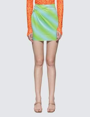 Ruched Miniskirt