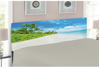 East Urban Home Ocean Upholstered Panel Headboard Size: Twin