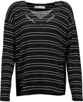 Kain Label Etta cutout striped stretch-modal sweater
