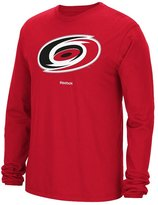 Reebok Carolina Hurricanes NHL Jersey Crest Long Sleeve Men's T-Shirt