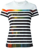 Mary Katrantzou rainbow stripe print T-shirt