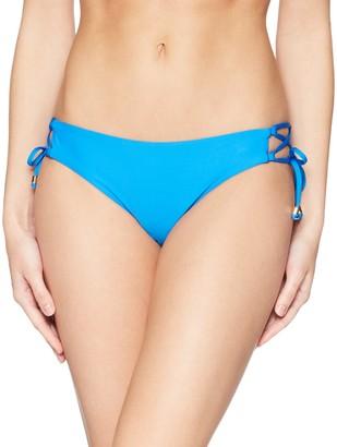 Ella Moss Women's Shiny Spice Lace up Pant Bikini Bottom