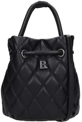Balenciaga Touch Buket Hand Bag In Black Leather