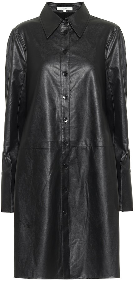 Tibi Tissue faux leather shirt dress
