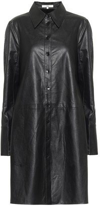 Tibi Tissue faux leather shirt minidress