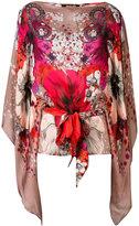 Roberto Cavalli Garden of Eden print blouse