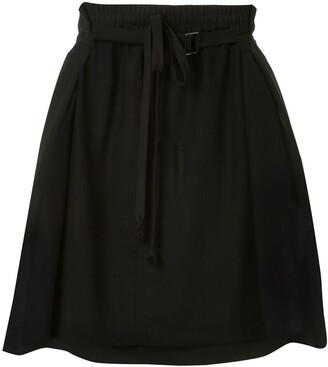 Ann Demeulemeester Drawstring-Waist Short Skirt