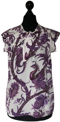 Gucci Purple Silk Top for Women
