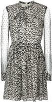 RED Valentino sheer sleeve mini dress - women - Silk/Spandex/Elastane/Polyamide/Polyester - 40