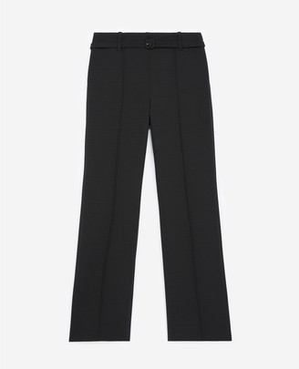 The Kooples Straight-cut black suit trousers with belt